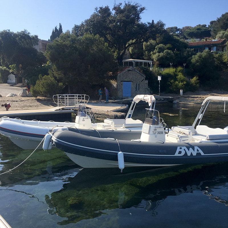 Location de bateau à giens pour une journée à Porquerolles
